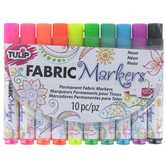 Neon Tulip Brush Trim Fabric Markers - 10 Piece Set